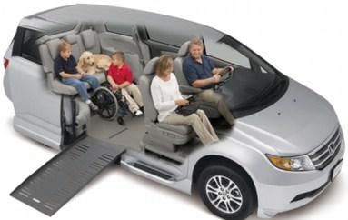 USオデッセイ X ブラウンアビリティ 自操式車両の福祉車両改造事例4