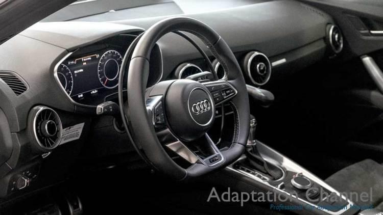 アウディ TTS  X アクセルリング・ブレーキレバーの福祉車両改造事例2