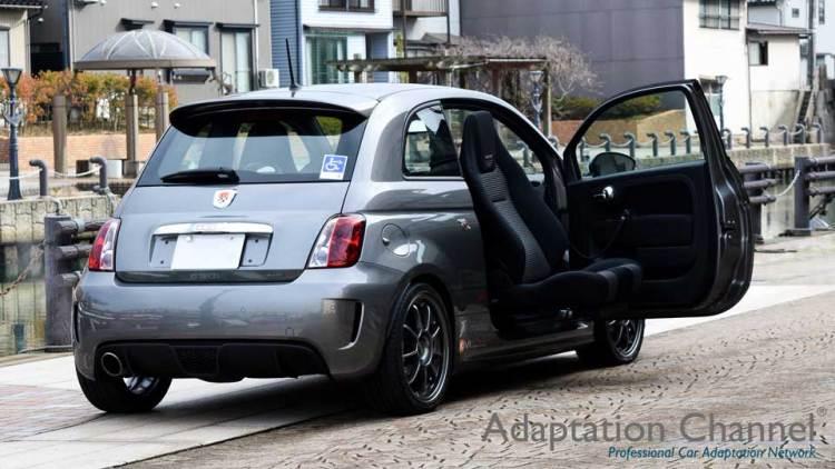 フィアットアバルト G-tech  X ターンアウトLVの福祉車両改造事例3