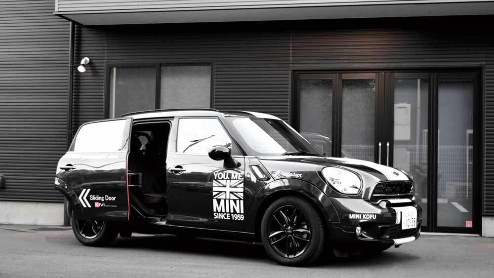 MINIクロスオーバー X  KIVIスライドドアシステムの福祉車両改造事例5