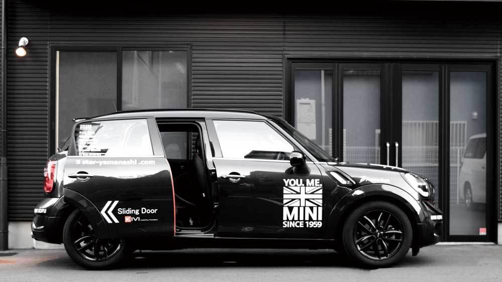 MINIクロスオーバー X  KIVIスライドドアシステムの福祉車両改造事例6