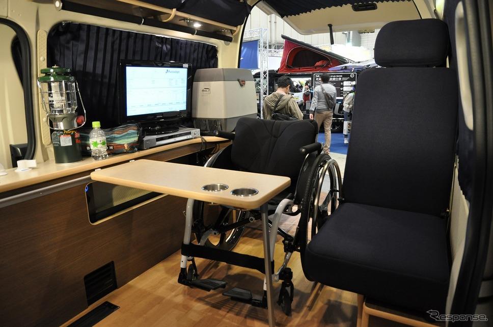車いすリフト付きキャンピングカー【バリアフリーキャンパー】の福祉車両改造事例2