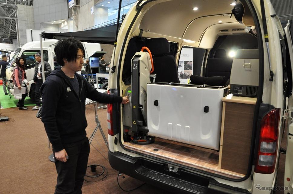 車いすリフト付きキャンピングカー【バリアフリーキャンパー】の福祉車両改造事例4