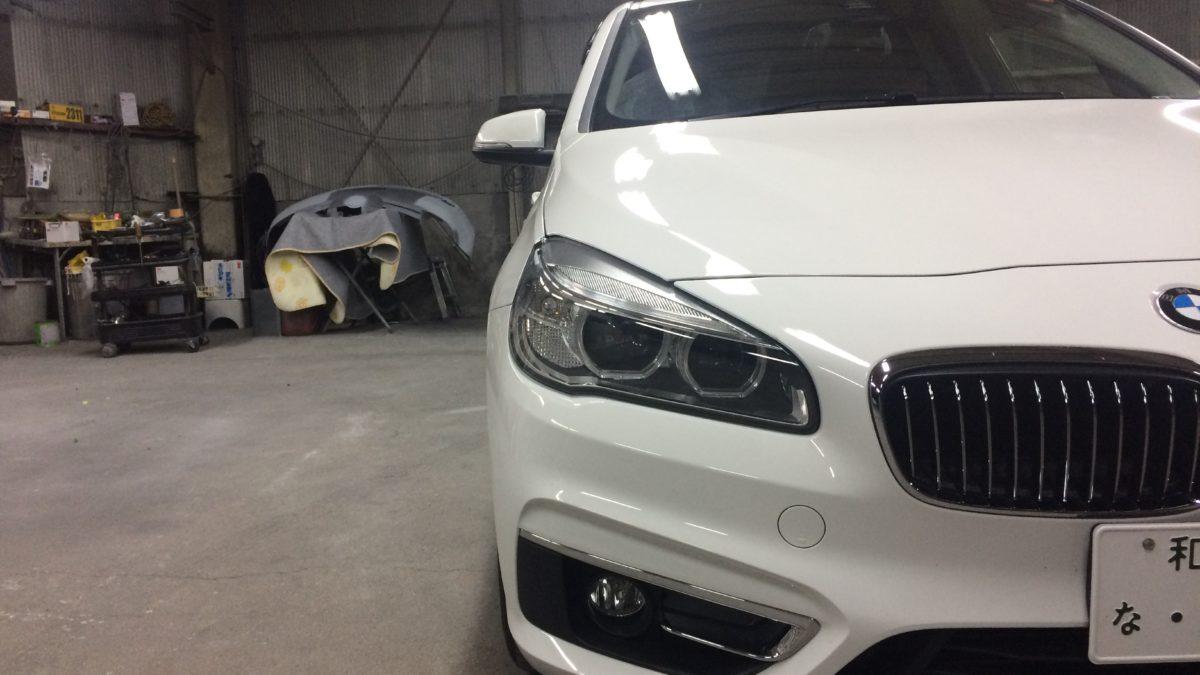 BMW 218i グランドツアラー X アクセルリング&左ブレーキレバーの福祉車両改造事例2