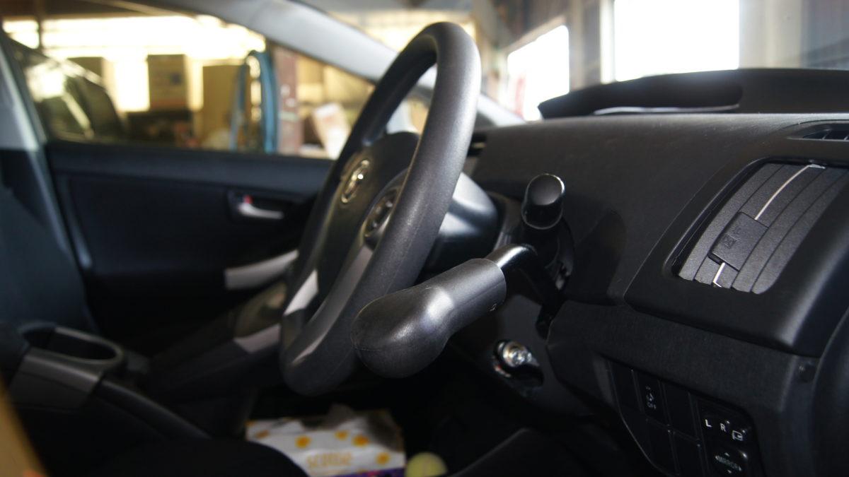 トヨタ プリウス X 見えるブレーキレバー(LF901ブレーキシステム)の福祉車両改造事例7