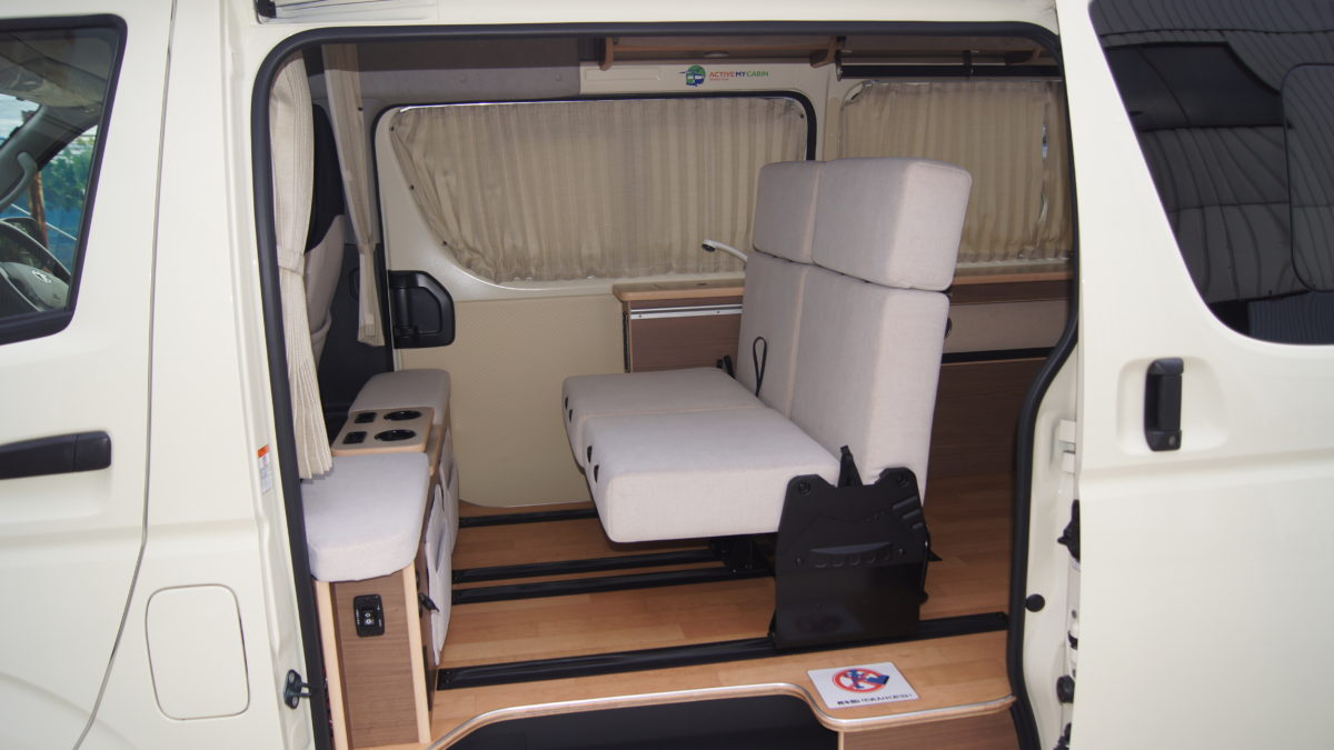 車いすリフト付きキャンピングカー 『アウラベース・リアエントリーモデル』の福祉車両改造事例9