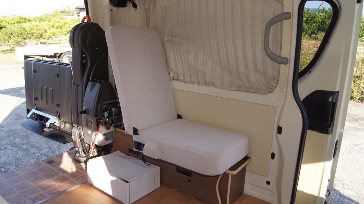 車いすリフト付きキャンピングカー 『アウラベース・リアエントリーモデル』の福祉車両改造事例12
