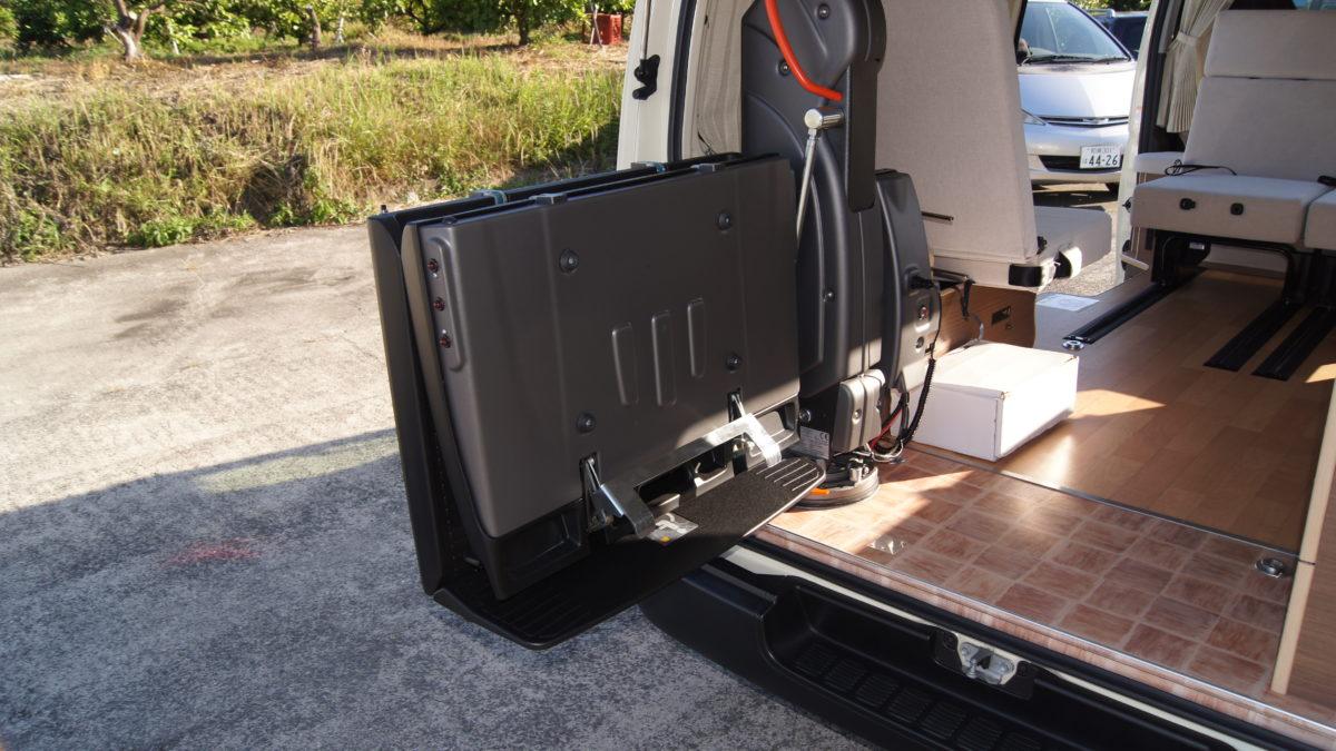 車いすリフト付きキャンピングカー 『アウラベース・リアエントリーモデル』の福祉車両改造事例6