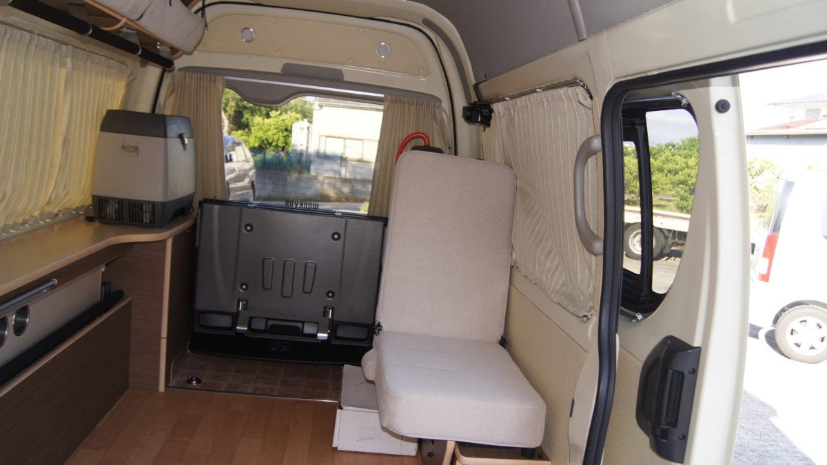 車いすリフト付きキャンピングカー 『アウラベース・リアエントリーモデル』の福祉車両改造事例15