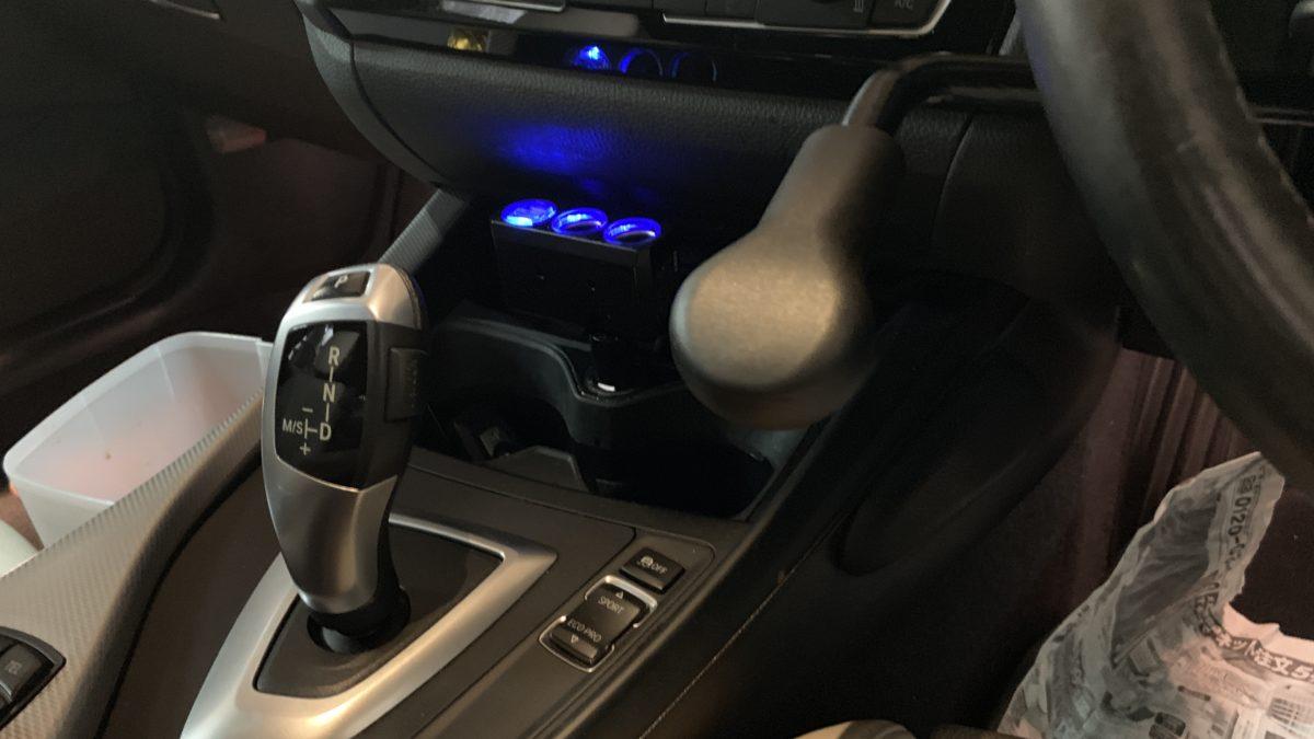 BMW 118ⅰ×補助ブレーキレバー(KIVI-LF901)の福祉車両改造事例4
