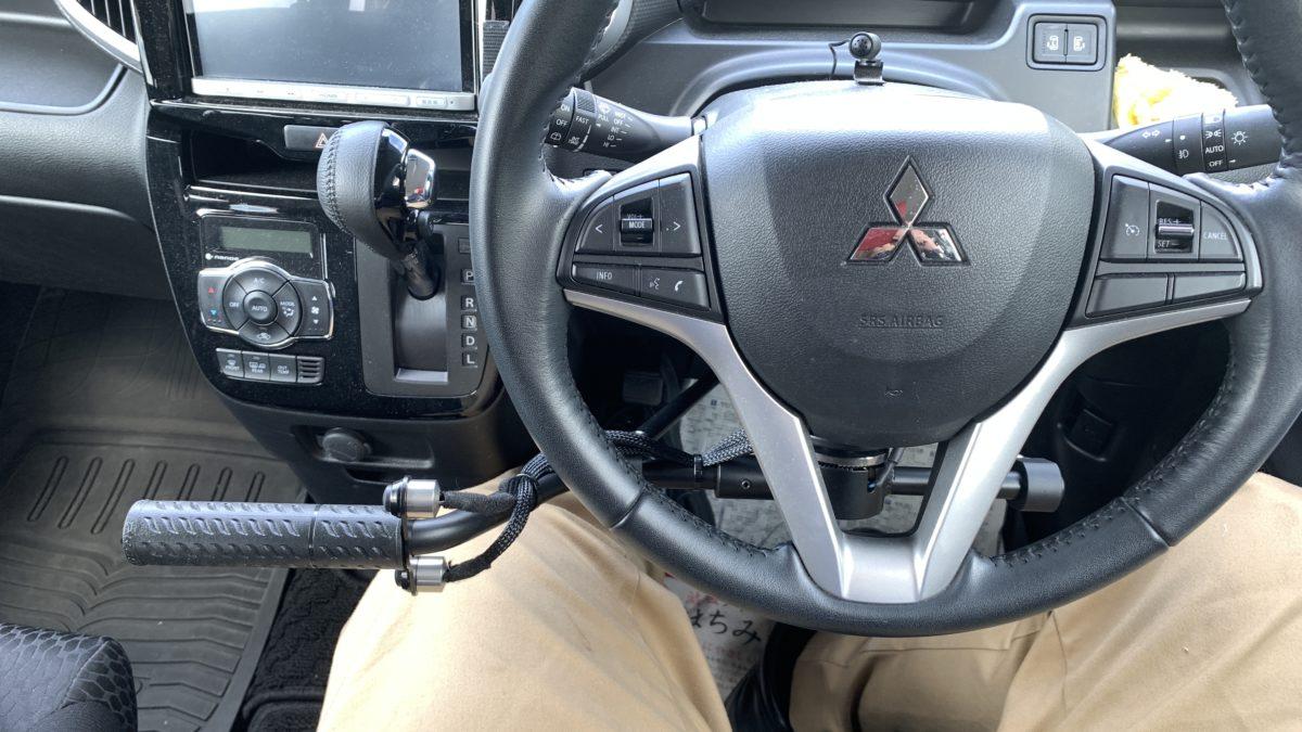 デリカ D2 ✖ KIVI社 CT08-M 手動運転装置の福祉車両改造事例2